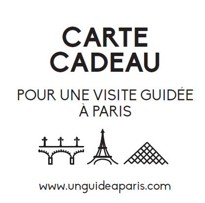 carte cadeau Paris visite guidée un guide à Paris