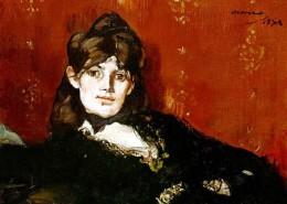 Musée Marmottan Monet Paris - Edouard Manet - Portrait Berthe Morisot étendue 1873