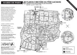 Plan cimetière du Père Lachaise